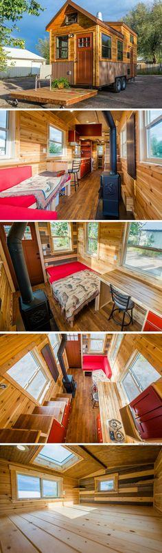 An off-grid cabin designed for Colorado mountain living by Mitchcraft Tiny Homes!