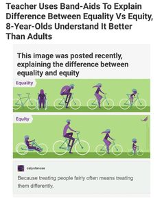 """Equality vs equity: """"because treating people fairly often means treating them differently"""" Faith In Humanity Restored, Haha, Equal Rights, Social Issues, Thought Provoking, In This World, Fun Facts, Random Facts, Things To Think About"""