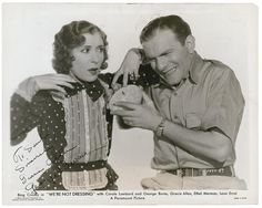 george burns and gracie allen | Burns And Allen | www.galleryhip.com - The Hippest Pics