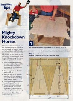 #323 Knockdown Sawhorse Plans - Workshop Solutions