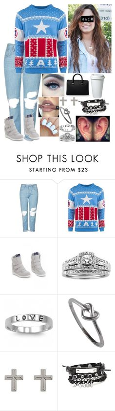 """""""Untitled #3036 - 25 Days of Christmas Sweaters - Day 3 - 12/3/16"""" by nicolerunnels ❤ liked on Polyvore featuring Topshop, Supra, A.Jaffe, Fantasy Jewelry Box, J.A.K., Lord & Taylor and Victoria Beckham"""
