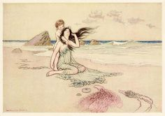 """Warwick Goble, """"Play by me, bathe in me, mother and son"""""""
