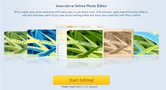 iPicci is a simple to use online picture editor that allows teachers and students to easily upload an image (without having to sign up or sign in) and then manipulate it using an easy to understand simple icons. This is a great option for simple photo editing and manipulation. Users can even take images from a webcam to edit or create their own original artwork.