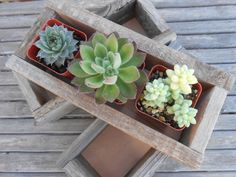 "TREASURY ITEM, Rustic Wedding Box, 10.5""x4.5""x2.5"", Centerpiece, Home Decor, Succulent Planter, Barn Wedding, Reclaimed Wood, Planter Box on Etsy, $12.00"