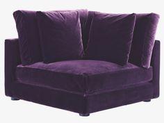RUPERT PURPLES Velvet Purple Velvet Corner Unit   Modular Sofas  HabitatUK