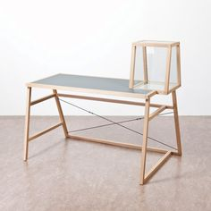 desk by Dutch designer Mieke Meijer is the first in a range of furniture based on images by German artists Bernd and Hilla Becher