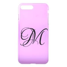 #Customize It Purple Monogram iPhone 8/7 Plus Case - #sophisticated #gifts #giftideas #custom