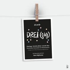 Einladungskarten - Geburtstagseinladung - ein Designerstück von sppiy bei DaWanda