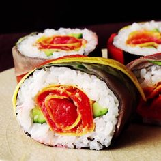 Why go out for sushi when you can make this gorgeous roll at home?