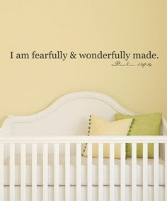 Love this Fearfully and Wonderfully Wall Quotes™ Decal on #zulily! #zulilyfinds