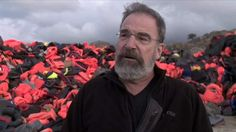 omeland star Mandy Patinkin helps dozens of refugees on the Greek island of Lesbos