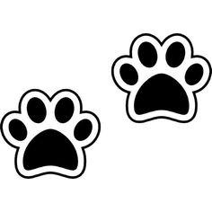 Dog Paws SET OF 2 Vinyl Sticker Decal puppy animal lover cat kitten 020