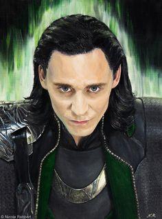 Loki (oil) by Quelchii on DeviantArt