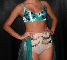 granny panties that look adult-diaper fluffy, with coins, is NOT all belly dance costume