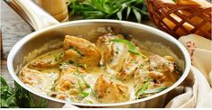 Quick One Pot Chicken Fricassee Italian Foods Lemon Chicken, Creamy Chicken, Tarragon Chicken, Sesame Chicken, Bbq Chicken, Top Recipes, Cooking Recipes, Drink Recipes, Food Dishes