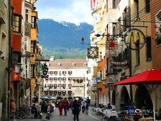 Innsbruck in Austria - Mozart stayed in the Gasthof, so did we.