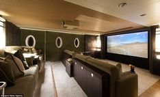 Technology: The mega-yacht even features a 3D cinema, perfect for keeping the kids entertained #SuperYacht