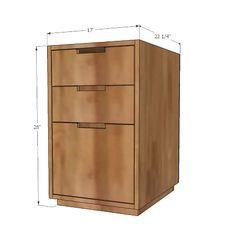 Ana White: File Cabinet