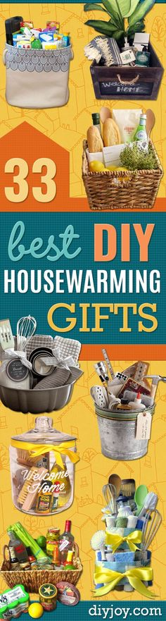 DIY Housewarming Gifts - Best Do It Yourself Gift Ideas for Friends With A New House, Home or Apartment - Creative, Cheap and Quick Crafts and DIY Ideas for Housewarming Presents - Mason Jar Gifts, Baskets, Gifts for Women and Men http://diyjoy.com/diy-housewarming-gifts