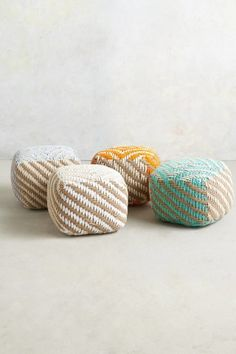 Small Diamond-Weave Pouf #anthrofav