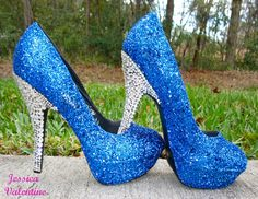 Glitter Heels in any Color by RippedClothing on Etsy