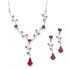 Crystal Bridesmaid Or Prom Necklace Set  - $29.99