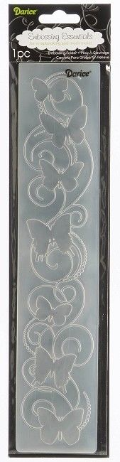 Darice-Embossing Folder- 2 .5x 12 -Butterflies