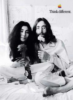 John and Yoko: Think Different  Old Apple ads. From the beginning days. | AD a glance