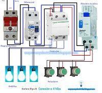 Esquemas eléctricos: Esquema eléctrico minutero escalera 4 hilos