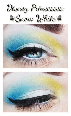 Snow White inspired makeup.
