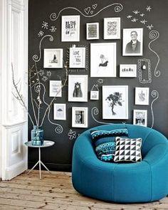 Como decorar a casa com uma parede lousa                                                                                                                                                                                 Mais