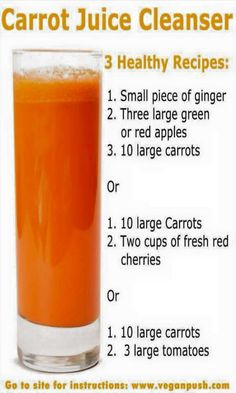 A daily intake of carrot juice can prevent the risk of heart disease too. Carrot juice is extremely beneficial for the liver. Drinking carrot juice is very beneficial for prenatal health as the beta-carotene is very healthy for mother and child. Healthy Juice Recipes, Juicer Recipes, Healthy Detox, Healthy Juices, Healthy Smoothies, Healthy Drinks, Smoothie Recipes, Detox Juices, Cleanse Recipes