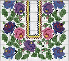 Cross Stitch Embroidery, Cross Stitch Patterns, Palestinian Embroidery, Kids Rugs, Cross Stitch Borders, Paths, Craft, Cross Stitch Samplers, Roses
