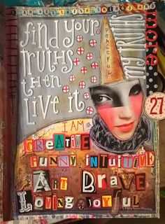 Day 1 My Truths by Nancy Baumiller ©2016 for my 365 Days of Spirit Art Journaling for Artists