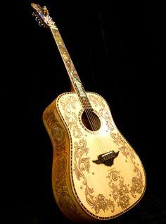 "Blueberry Custom ""Patriot"" Dreadnought Acoustic Guitar"
