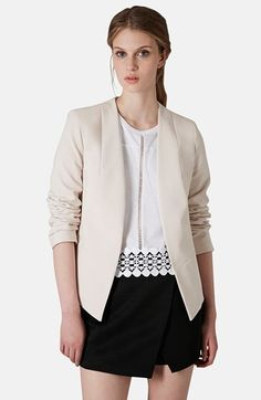 5018e2b449 Topshop Open Front Blazer available at  Nordstrom Topshop Outfit