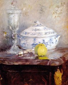 Tureen And Apple,1877 by Berthe Morisot