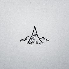 Mountain doodling. #drawing #art #penandink #doodle #doodling #design #mountains…