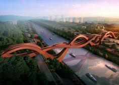 Estudio holandés NEXT, puente ondulado