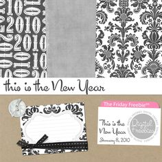 This is the New Year - Digital Scrapbooking Freebie