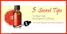 5 Secret Tips to maximize the vitamin C serum effects. - All in one solution for all skin concerns