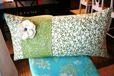 Sash-Slip Pillow Tutorial w/ Felt Flower ~ The House of Smiths