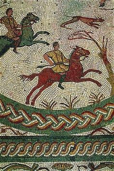 Mosaic from the largest Roman site in Portugal, Conímbriga, 15 km southwest of Coimbra. via Pinhal Tour Stone Mosaic, Mosaic Art, Mosaic Glass, Mosaic Tiles, Ancient Rome, Ancient Art, Ancient History, Art History, Art Antique