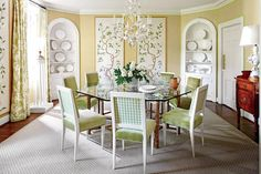 The Glam Pad: Sarah Bartholomew's Classic Georgian Home. Beautiful. I love the fresh colors.