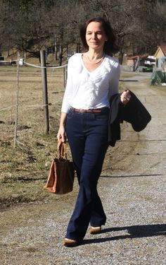 Mature women in tight trousers