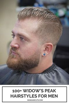 This smooth and gradual haircut blends perfectly with a widow's peak hairline. You can easily style it after getting your sides and nape clipped as close to the skin as possible. #windowspeak #modernmenhairstyle #baldingmenhairstyle #menhairstyle #menhighfade #manhaircuts Widows Peak Hairstyles, High Fade Haircut, Widow's Peak, Hair Pomade, Bald Men, Long Beards, Shades Of Blonde, Shaved Sides, Comb Over