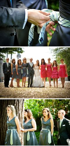 """Brilliant Idea: """"Groomsladies"""" Tie Sashes 