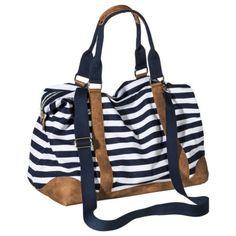 Merona® Stripe Weekender Handbag with Removable Crossbody Strap - Navy saw this at target, and loved it.