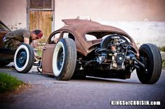 Chopped, Slammed squashed VW bug. Wow Wheel Tire Packages