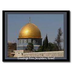 Jerusalem Israel Postcard - Dome of the Rock